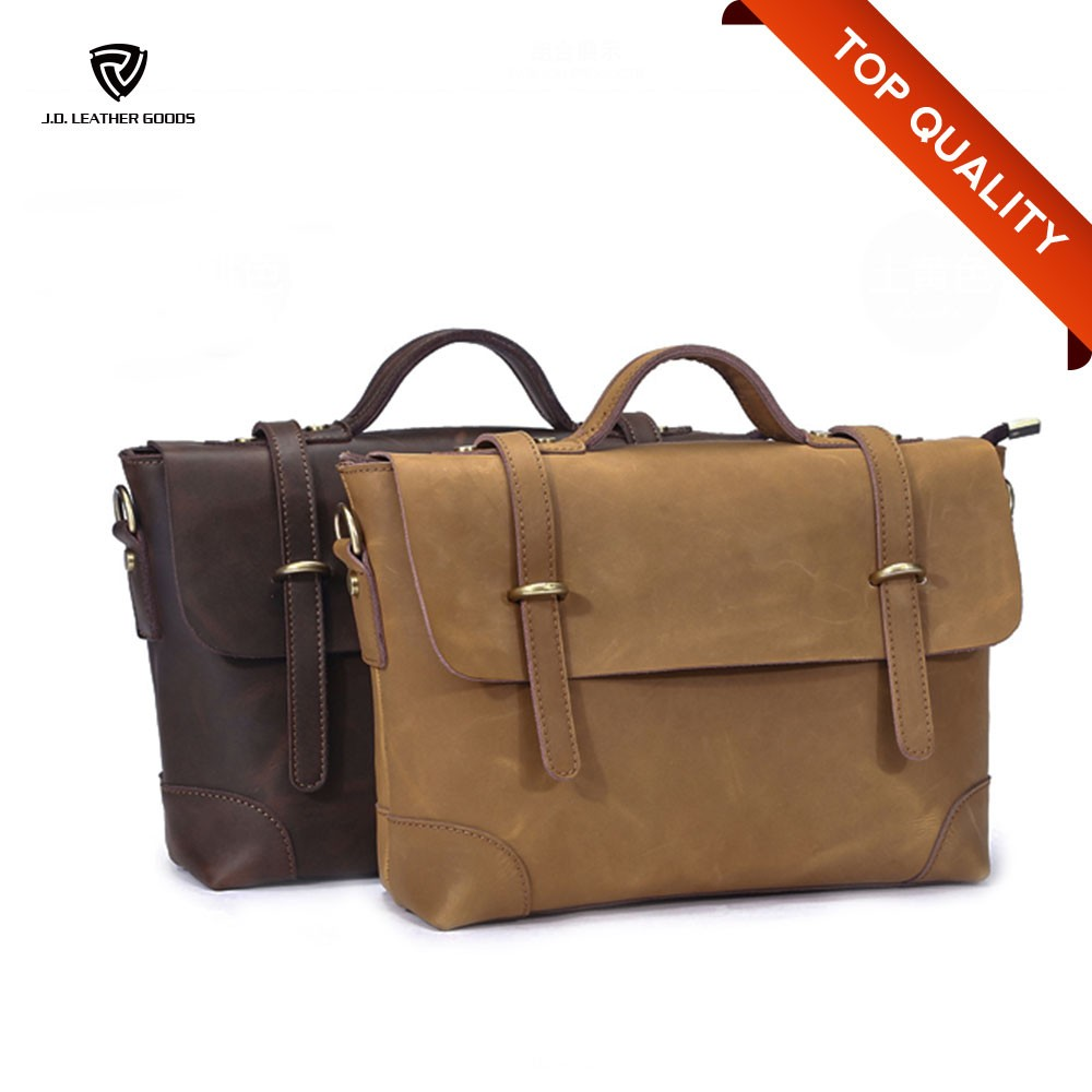 Vintage Genuine Leather Shoulder Messenger Bag/Laptop Men Messenger Bag