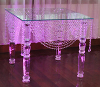 Beautiful crystal cake table wedding decorate ZT-151-2