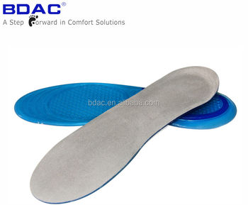 TPE gel foot massage shock absorption gel sock insole best insoles