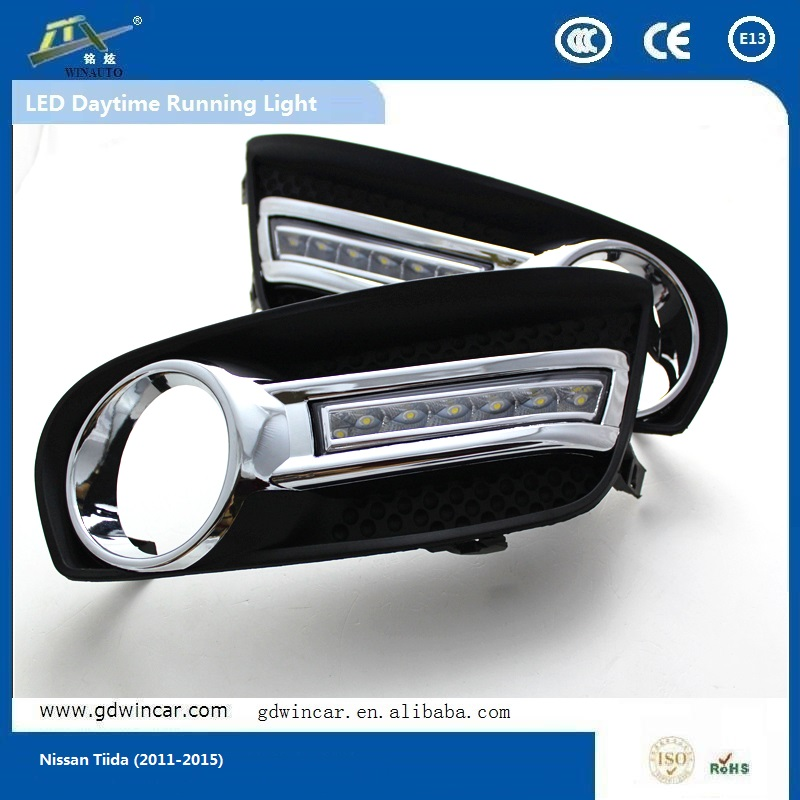 flash led light motorcycle drl For Nissa <strong>n</strong> Tiida lighting led daylight 2011 - 20 <strong>15</strong>