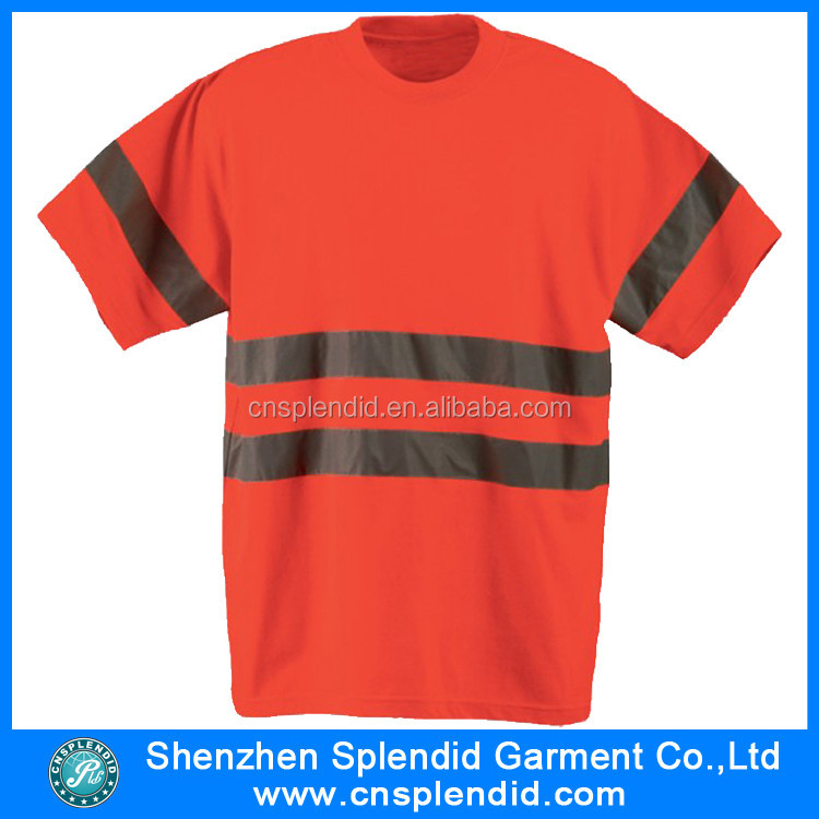 Cheap price china wholesale short sleeve hi vis T shirts