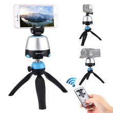 PULUZ 360 Degree Rotation Panoramic Head/Tripod Mount with Remote Controller for Smartphones for <strong>GoPro</strong> for DSLR Cameras