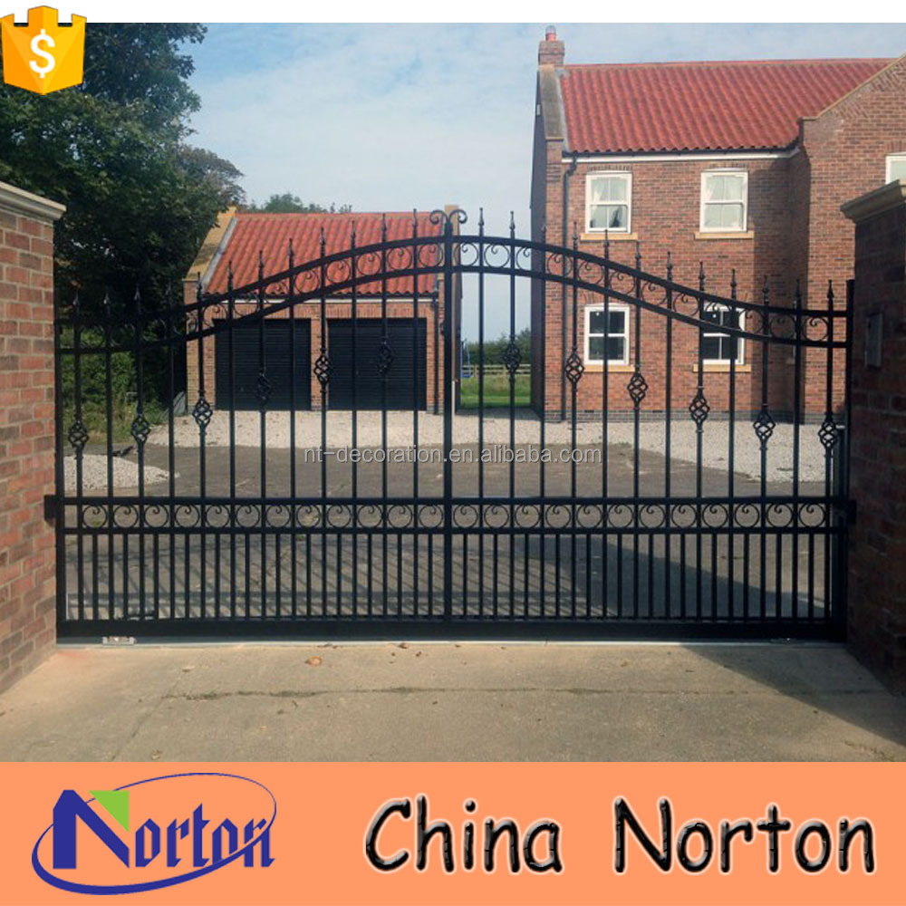 Simple Fence Gate Design simple cast iron main gate design for wall compound ntirg-377x