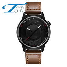 2017 cool style men Brief vogue simple stylish Black and white face stainless steel quartz clock fashion Quartz Watch