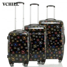 Wholesale Factory printing polycarbonate luggage