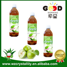 Bottle packing apple juice concentrate