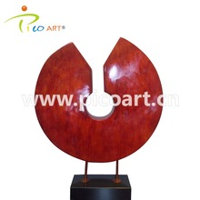 Custom Modern Handmade Welded Red Composite Abstract Art Resin Sculpture