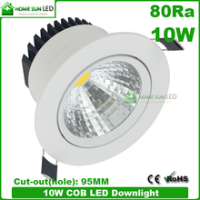 dimmable and adjustable COB 10W LED down light