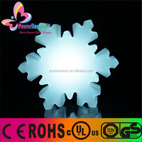 large size plastic housing pure white inside led christmas 3d colored snowflake
