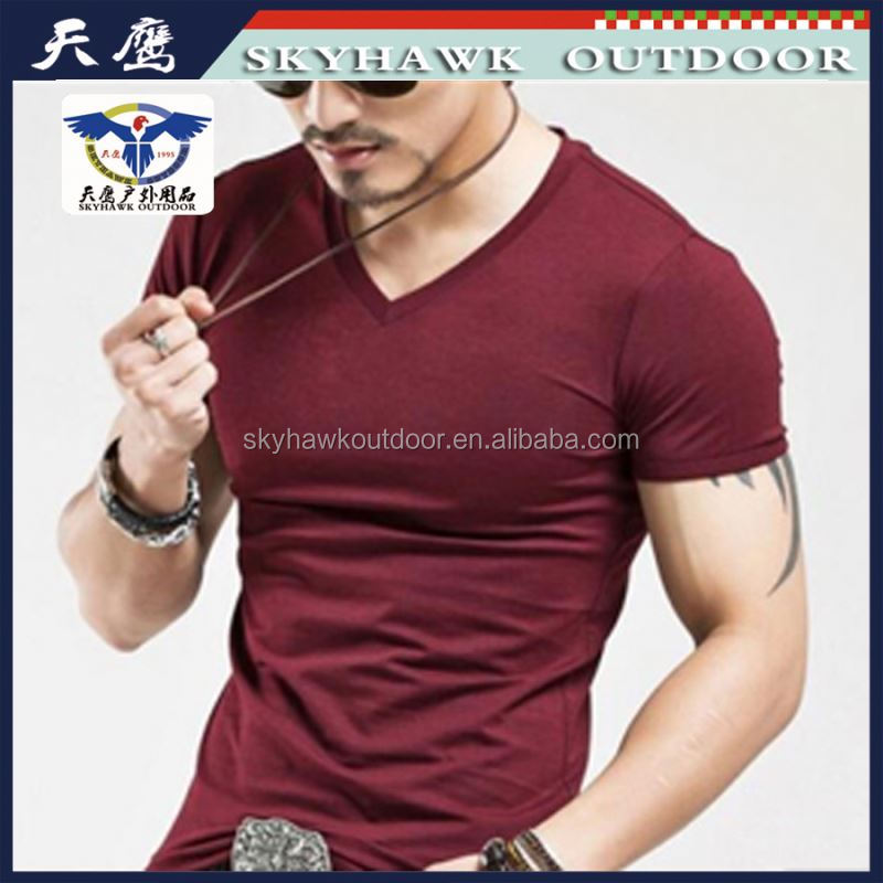 Korea Simple Style Bulk V-Neck T Shirt For Men