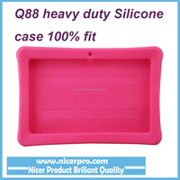 Heavy duty Soft Silicone Gel Protective Cover Case for 7 inch Q8 Q88 Tablet PC for Allwinner A33 A23 A13 Q88 Android PC 5 color
