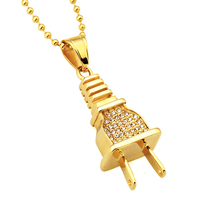 Personalized Cheap Hip Hop 14K 18K Gold Small Plug Pendant