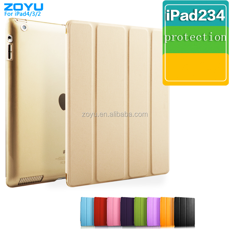 Manufacturer Luxury Flip Classic Pu Leather Cover For Ipad
