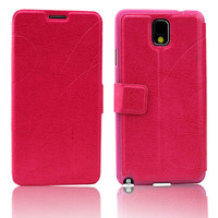 Newest fancy designer filp leather case cover for samsung galaxy note 3 iii