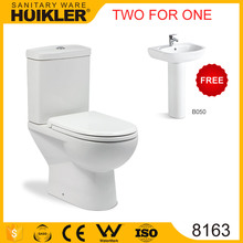 Two for One A-8163 Antique toilet commode new model bathroom commode toilet commond factory price