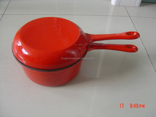 enamel cast iron sauce double pan