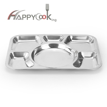 Modern design wholesale factory price stainless steel divided lunch tray