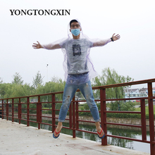 Good quality durable waterproof PE adult transparent rainwear central