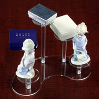 2014 New hot sales customized acrylic display stand acrylic bookshelf from top china supplier