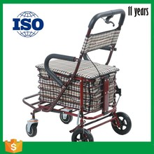 Supuer market fold four wheels shopping cart for older