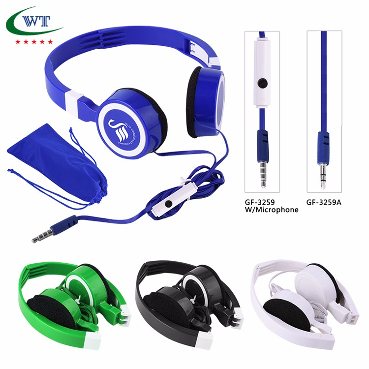 Stereo Noise Headset Headphone price Earphones with Volume Control Microphone
