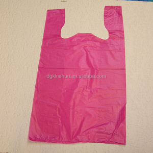 Supermarket grocery carry-out cheap plastic T-shirt bag