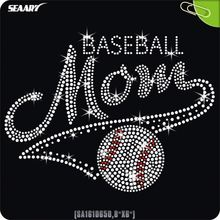 Wholesale Baseball Mom rhinestone iron on letters transfer