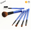 Makeup Cosmetic Brush Gift Set, Travel /Portable Brush kit with Pouch 6PCS