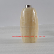 natural Goldtopas stone soap dispenser