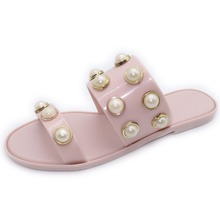 Beautiful Pearl jelly shoes girl sandals
