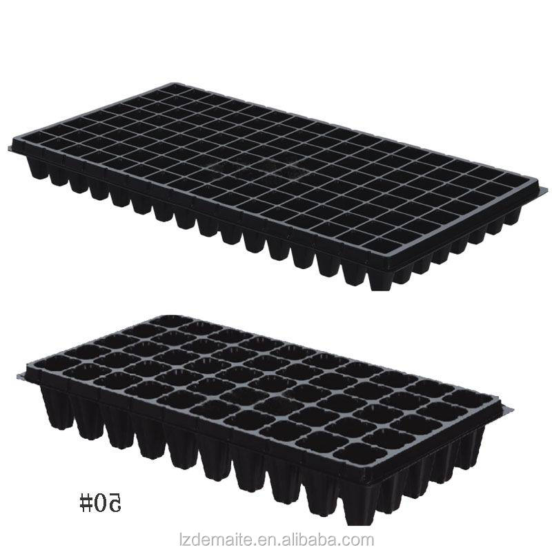 128 Cell Plastic Seed Starter Tray for Planting Seedlings Propagation Germination Plug Station