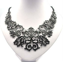 black metal floral lace necklace jewellery
