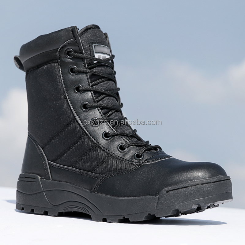 Black Military SWAT American Combat Boot Army Tactical Boots