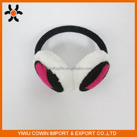 2016 Custom fashionable warm wool earmuff for cold winter