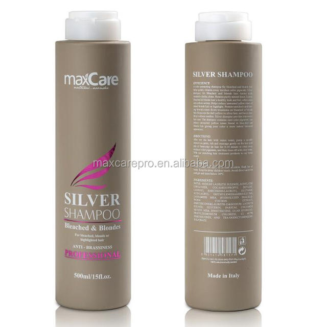 Private label products sulfate free silver hair shampoo factory price