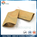 Kraft Paper Stand Up Pouch with Zipper for Food Packaging