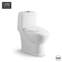 Small size indoor bathroom used standard siphon flush ceramic indian toilet seat