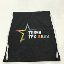 cheap custom promotion polyester drawstring bag