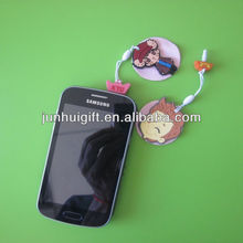 Lovely hot selling word ear phone jack plug accessories