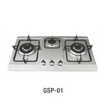 GSP-01 Hot sale stainless steel 3 burner stove built in gas hob