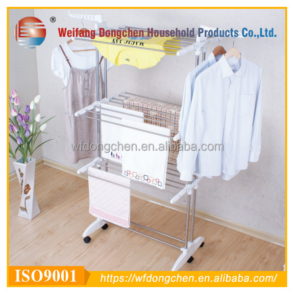 folding adjustable 3 tier clothes drying rack