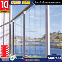 reasonable price with top quality aluminum deck glass railing comply with AS2208