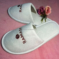 embroidery poly terry hotel slipper for radama hotel