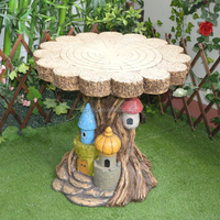 Garden Decoration Artificial Ecology Design Tree Trunk Outlook Table