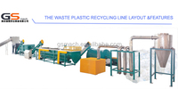 Second hand plastic film recycling machine