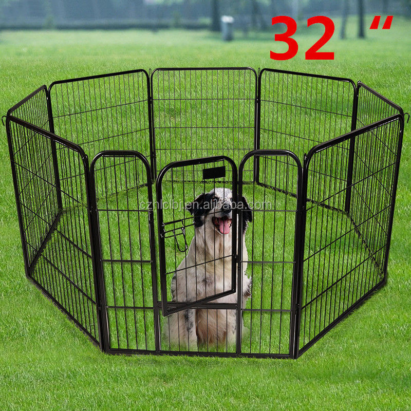 "New 32"" 8 Panel Heavy Duty Pet Playpen Dog Exercise Pen Cat Fence outdoor Yard"