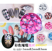 BIN Mix color Round Sequins glitter sparkly flakes Nail art