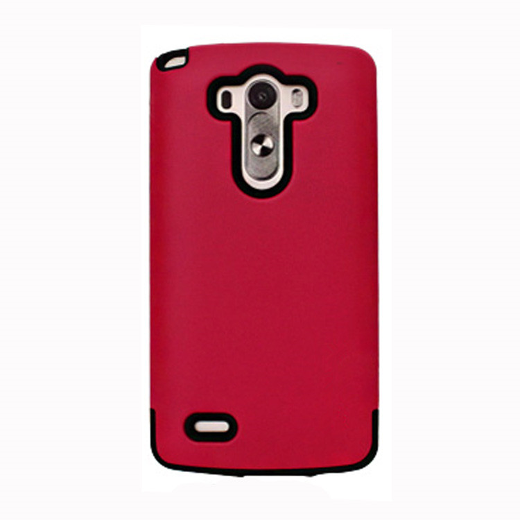 china guangzhou supplier red color tpu with pc hybrid armor Cell Phone case for lg g3
