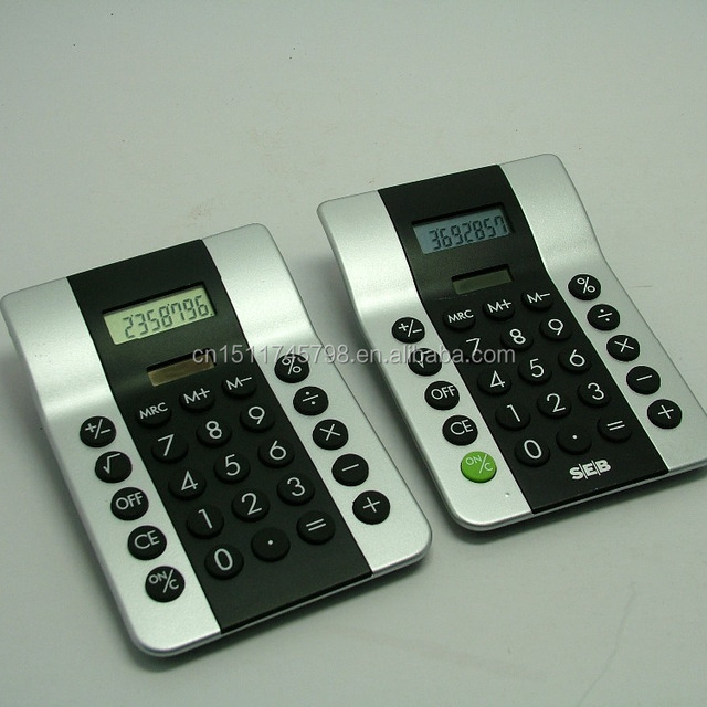Custom solar panel size electronic calculator for promotion gift