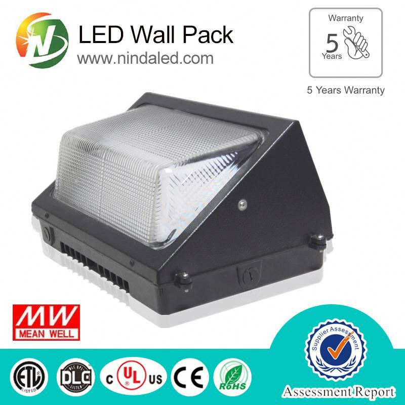 Factory direct sales rechargeable corner led wall pack light 60w